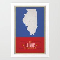 ILLINOIS Art Print