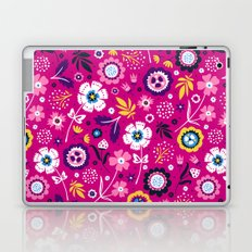 Folk Flowers (Magenta) Laptop & iPad Skin