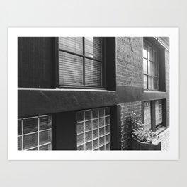 Brick Building Windows Art Print