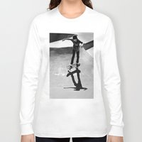 skateboard Long Sleeve T-shirts featuring Skateboard by Chiarra Mandato