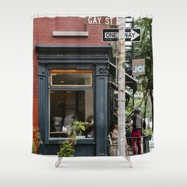 Picturesque restaurant in Greenwich Village, New York Shower Curtain