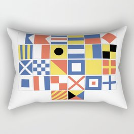 Nautical Flags Rectangular Pillow