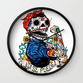 We Can Do It Skull Wall Clock