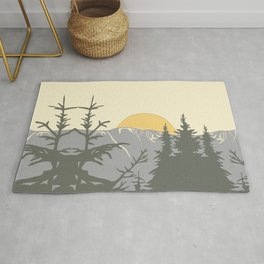 Ski Mountain Sun and Trees - Breckenridge  Rug