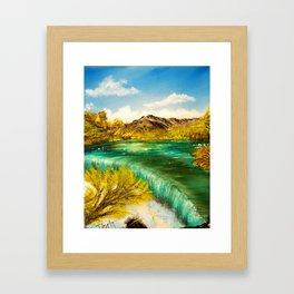 Emerald Falls Framed Art Print
