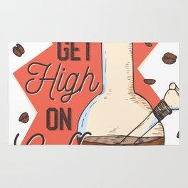 High On Coffee Rug