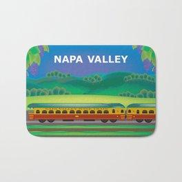 Napa Valley, California - Skyline Illustration by Loose Petals Bath Mat