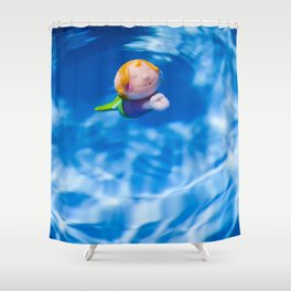 Mermaid in the pool Shower Curtain