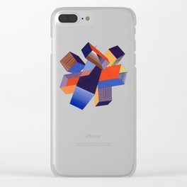 Geometric Painting by A. Mack Clear iPhone Case