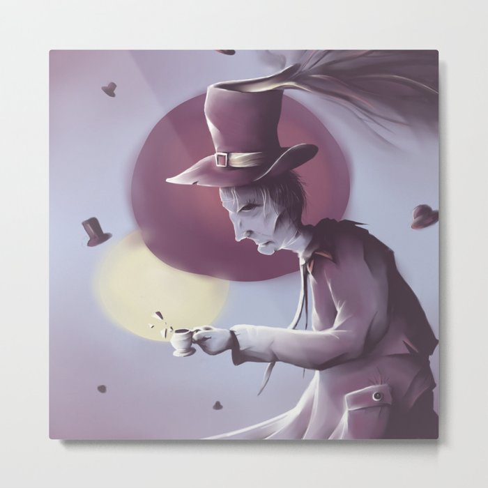 The hatter Metal Print