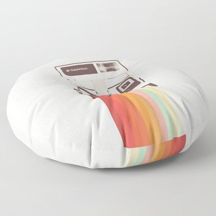 Instant Camera Rainbow Floor Pillow