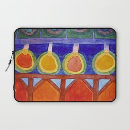 Cabins With Festive Lights Laptop Sleeve