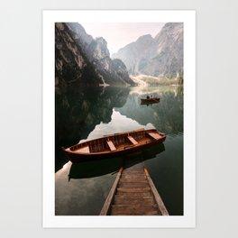 Lago Di Braies Art Print