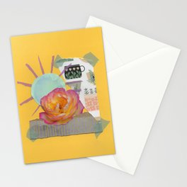 Pink KnockOut Rose Collage Stationery Cards
