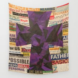 PURPLE CROSS GRAPHIC Wall Tapestry