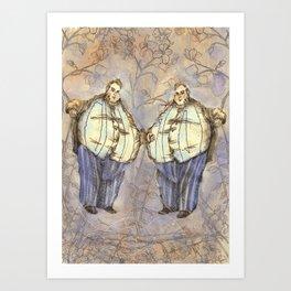 Tweedledum & Tweedledee Art Print