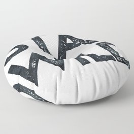 STAY WILD Vintage Black and White Floor Pillow
