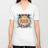 carousel V-neck T-shirts featuring Soul Carousel by Tshirt-Factory