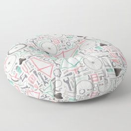 Cycling Bike Parts Floor Pillow