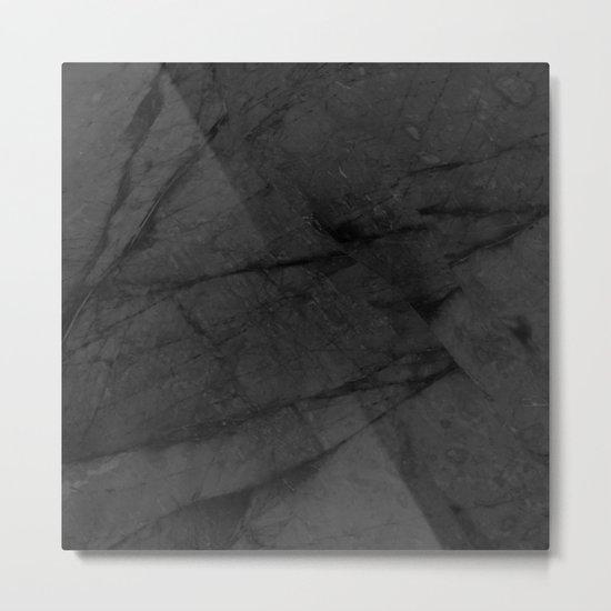 Dark Grey Marble Metal Print