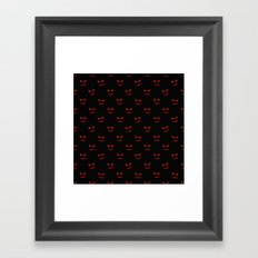 Scary Faces Creepy Nights Framed Art Print
