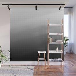 Halftone Gradient Black to White Wall Mural