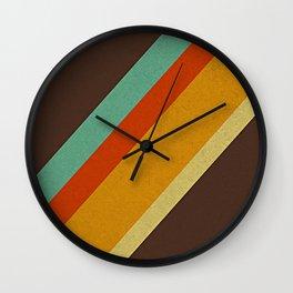 Retro 70s Color Palette Wall Clock