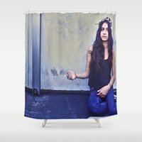 jackalope Shower Curtains featuring JACKALOPE by Evan Daigle