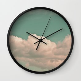 Clouds in the sky Wall Clock