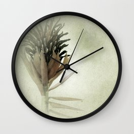 Bromeliad Flower Botanical Photograph Wall Clock