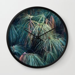 Pine Needle Fireworks Wall Clock