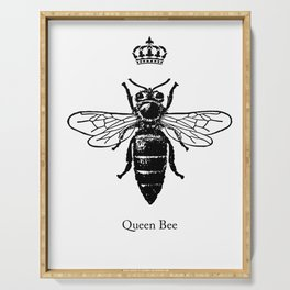 Graphic Insect Queens Entomology Science Men Women Serving Tray