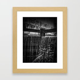Manchester in Black and White Framed Art Print