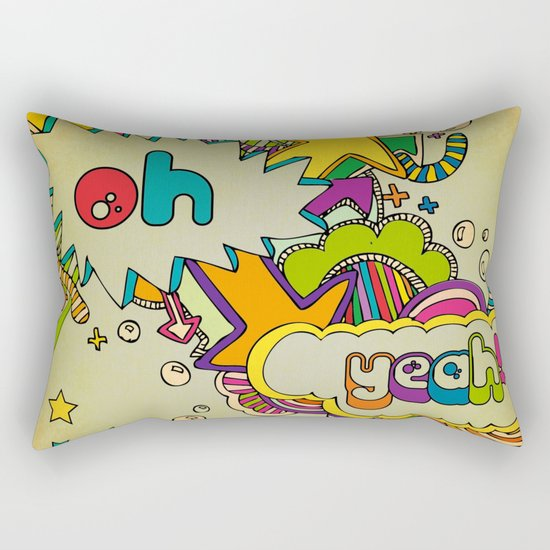 Yeah Yeah! Rectangular Pillow