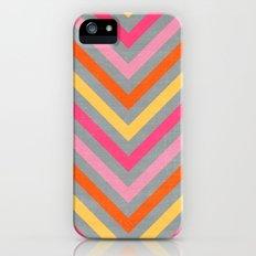 valentine lines - gray iPhone (5, 5s) Slim Case
