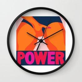 pussy power Wall Clock