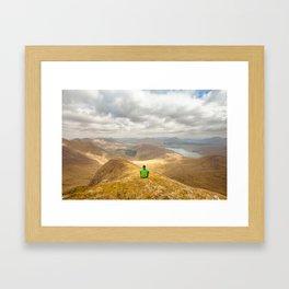 Connemara Mountains Mweelrea Framed Art Print