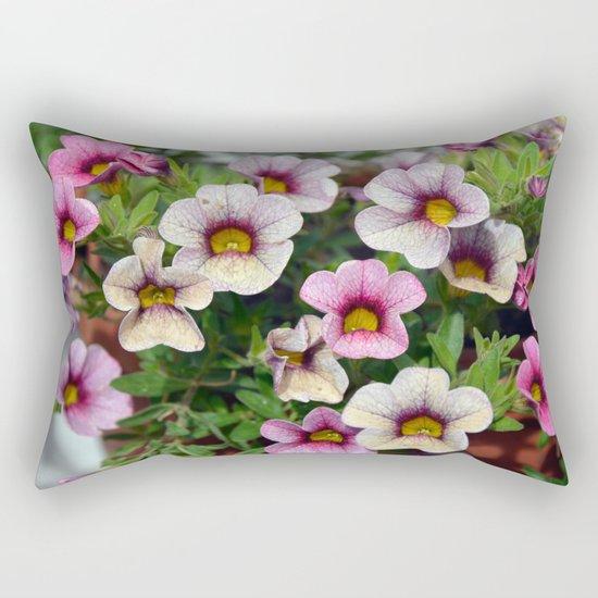 Floral summer cocktail Rectangular Pillow