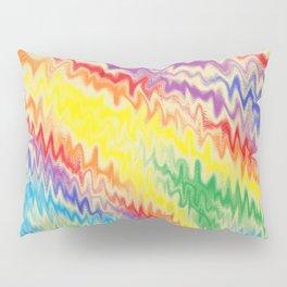 Raging Rainbow Fire Lines Pillow Sham