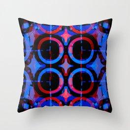 Blue Steeples Throw Pillow