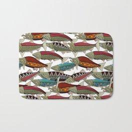 Alaskan salmon white Bath Mat