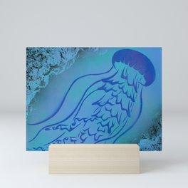 Purple Jellyfish Mini Art Print