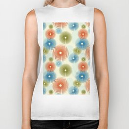 Retro Flower Pattern #society6 #buyart #decor Biker Tank