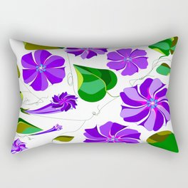 Morning  Glories in Purples and Lavender Rectangular Pillow