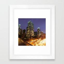 los angeles downtown Framed Art Print