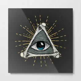 All seeing eye of God Metal Print