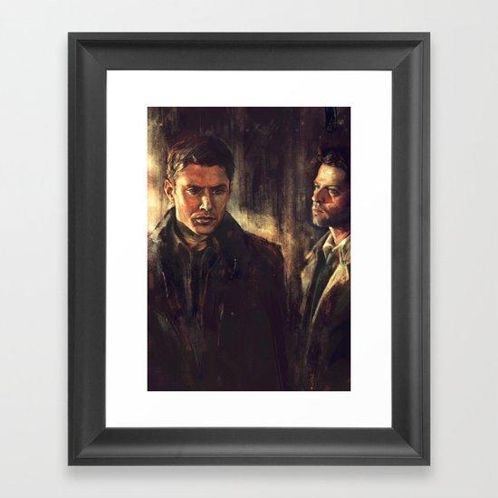 I Walk Beside You Framed Art Print