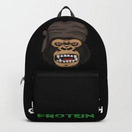 Tell This Vegan VEGANS herbivore vegetarian gorilla monkey chimpanzee diet Backpack