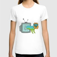 tv T-shirts featuring TV by Satyrbug
