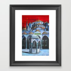 Sultan Ahmed Mosque, Istanbul  Framed Art Print